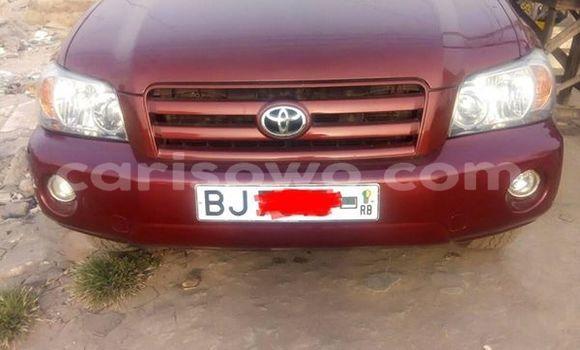 Acheter Occasion Voiture Toyota Highlander Rouge à Cotonou au Benin