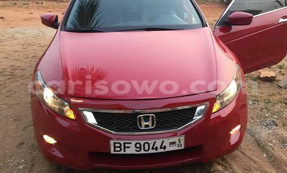 Acheter Occasion Voiture Honda Accord Rouge à Cotonou au Benin