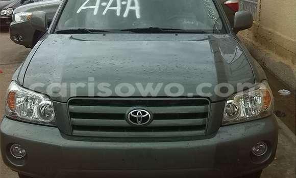 Acheter Occasion Voiture Toyota Highlander Gris à Porto Novo au Benin