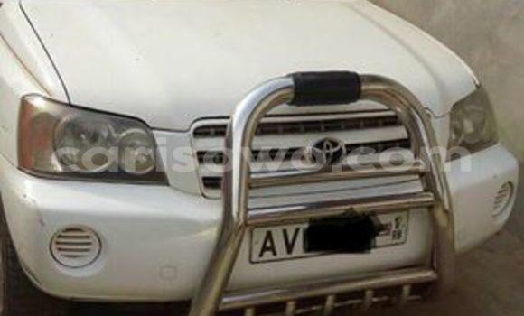 Acheter Occasion Voiture Toyota Highlander Blanc à Cotonou au Benin